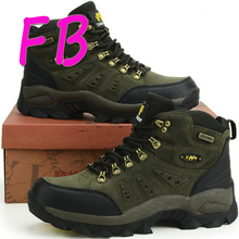 Outdoor Hiking Waterproof Work Boots 2016 Rubber Men Boot Ankle Warm Waterproof Snow Gum Shoes Black Winter Brand Camel Platform