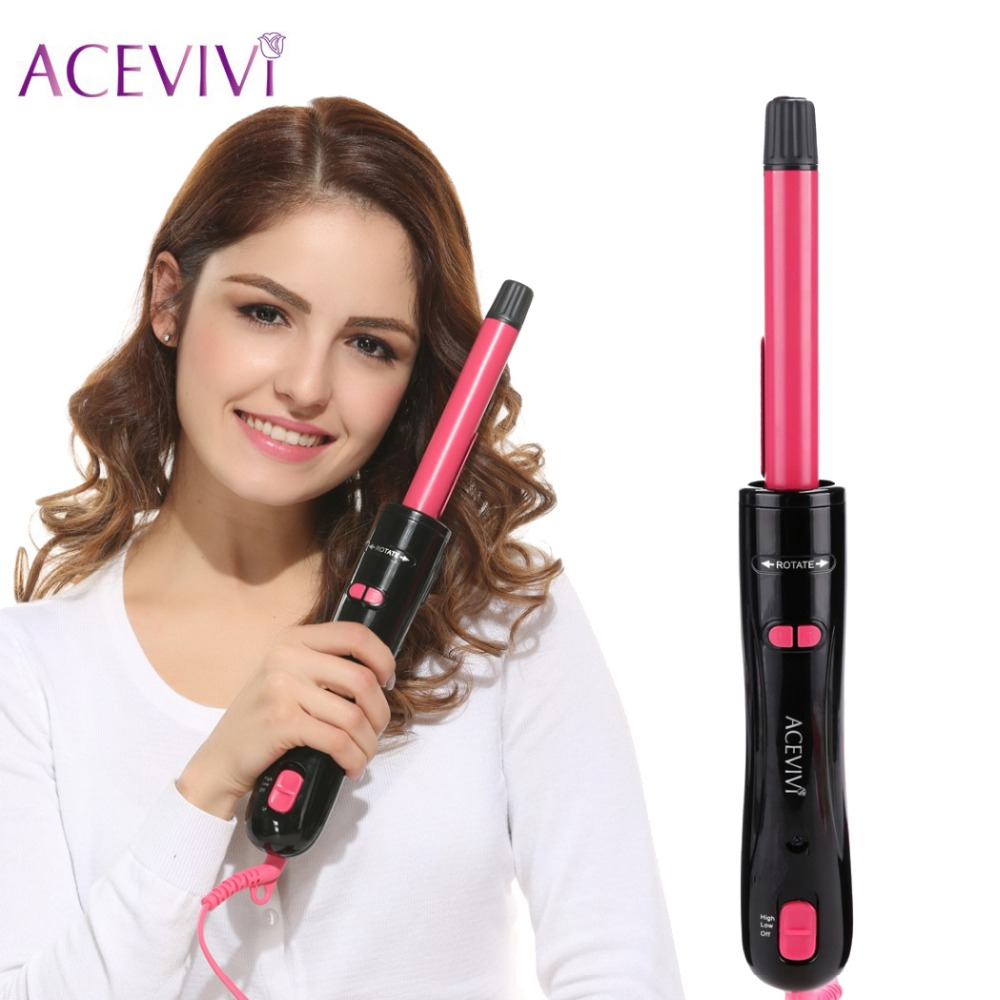 ACEVIVI Professional Automatic Electric Hair Curler Conical Curling Iron Single Tube Ceramic Glaze Cone Magic Hair Styler EU US<br>