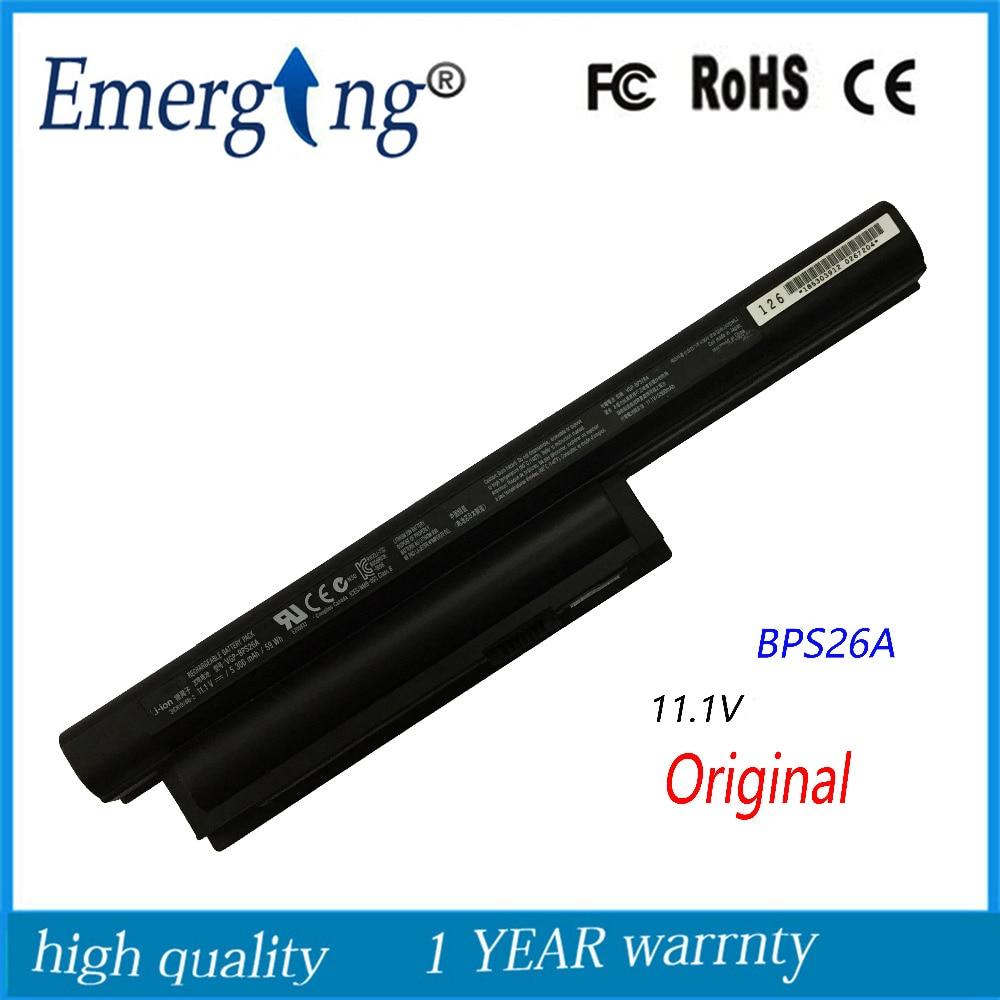 Original New Laptop Battery for SONY VAIO BPL26 BPS26 VGP-BPL26 VGP-BPS26 VPCEH16EC VPCEL15EC SVE141 SVE14A SVE15 SVE17 VPC-CA<br>