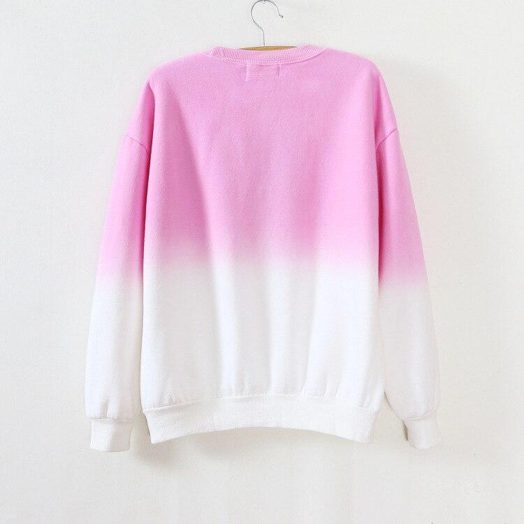 ArtSu Autumn Winter Thicken Fleece Gradient Color Hoodies Sweatshirt Women Hoody Tracksuit Cute Sweatshirts Clothing ASHO50037 11