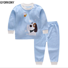 2018 Kids Thermal Underwear Solid Thick Cotton Children's Warm Suit Clothes Baby Boys Girls Long Johns Pajamas Sets A-BN1013-1P(China)