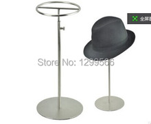 Free Shipping fashion style Stainless Steel Hat display holder adjustable Metal wig/ purse /slik scarf / Hat Display stand rack(China)