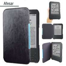 Flip Book cover case for Amazon Kindle 3 3rd Gen Ereader leather pocket case magnetic closured Kindle Keyboard (3rd Gen) pouch(China)