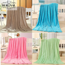 Beroyal Coral Velvet Fleece Blanket Throws Flannel Blankets Covers Baby Adult for All Season Soft Warm