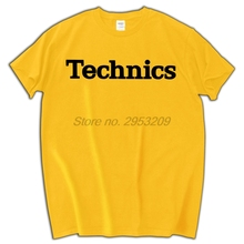 TECHNICS LOGO T SHIRT DJ 1200 TURNTABLE MUSIC VARIOUS COLORS 100% Cotton Tee