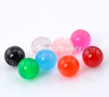 "Doreen Box hot-  200PCs Mixed Colorful Resin Spacer Ball Beads 8mm(3/8"")  (B20886)"