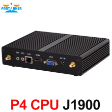 Intel Celeron Quad Core j1900 Fanless Mini PC with VGA HDMI support windows 7 8 Linux Ubuntu(China)