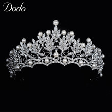 DODO Unique Luxurious Crystal Party Hair Decoration Wedding Tiara Crown Top Quality Shine Bridal Fashion Hair Accessories F057(China)