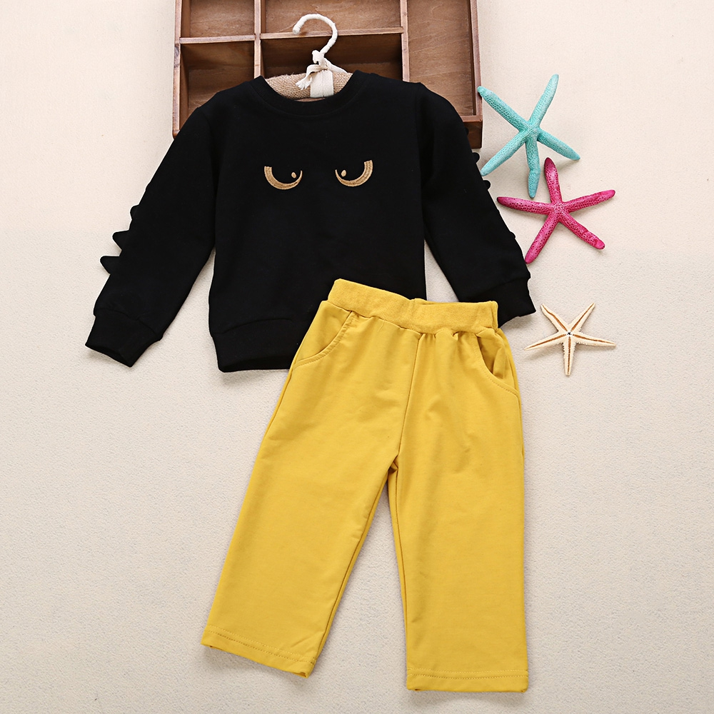 Kids Clothing Sets Funny Monster Printed Long Sleeve T-Shirt + Pants 2pcs Autumn Spring Childrens Sports Suit Boys Clothes Set<br><br>Aliexpress