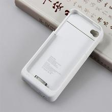 GagaKing battery case for Iphone 4 4s 1900mah charger case thin phone case portable power bank case only have white