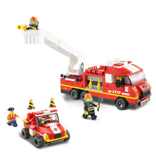 Models building toy 0223 city Fire Department emergency 368Pcs Building Blocks compatible with lego city toys & hobbies(China)
