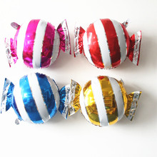 10 pcs/lot Baby Shower Candy Stripe Foil BalloonS TOY Party Birthday Wedding Decorations children gift supplies(China)