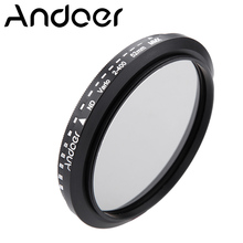 Andoer 52mm ND Filter Fader Neutral Density Adjustable ND2 to ND400 Variable Optical glass Filter for Canon Nikon DSLR Cameras(China)