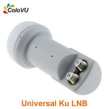 Ku Band LNB Universal Twin LNB Mini Digital Satellite Twin Output for Satellite Dish DVB-S/S2 High Gain Low Noise Hot Selling