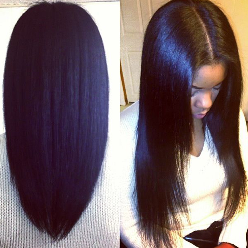 Yaki Straight Front Lace Wig 8A Full Lace Human Hair Wigs For Black Women 8-24 Lace Front Human Hair Wigs With BabyHair<br><br>Aliexpress