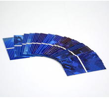 NEW Arrival 100pcs Color Crystal Solar Panel Solars Cell 0.5V 450mA Solars Module DIY Sunpower Charger Solar Power Bank 52*26mm