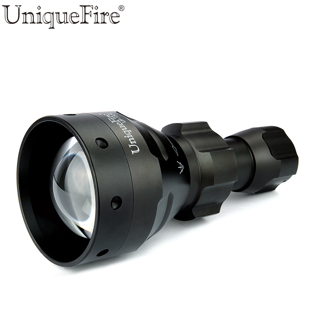 UniqueFire Led Flashlight UF-1504 IR850nm Led T67 Zoomable Flashlight Torch For 18650 Battery Tactical Hunting Lanterna<br><br>Aliexpress