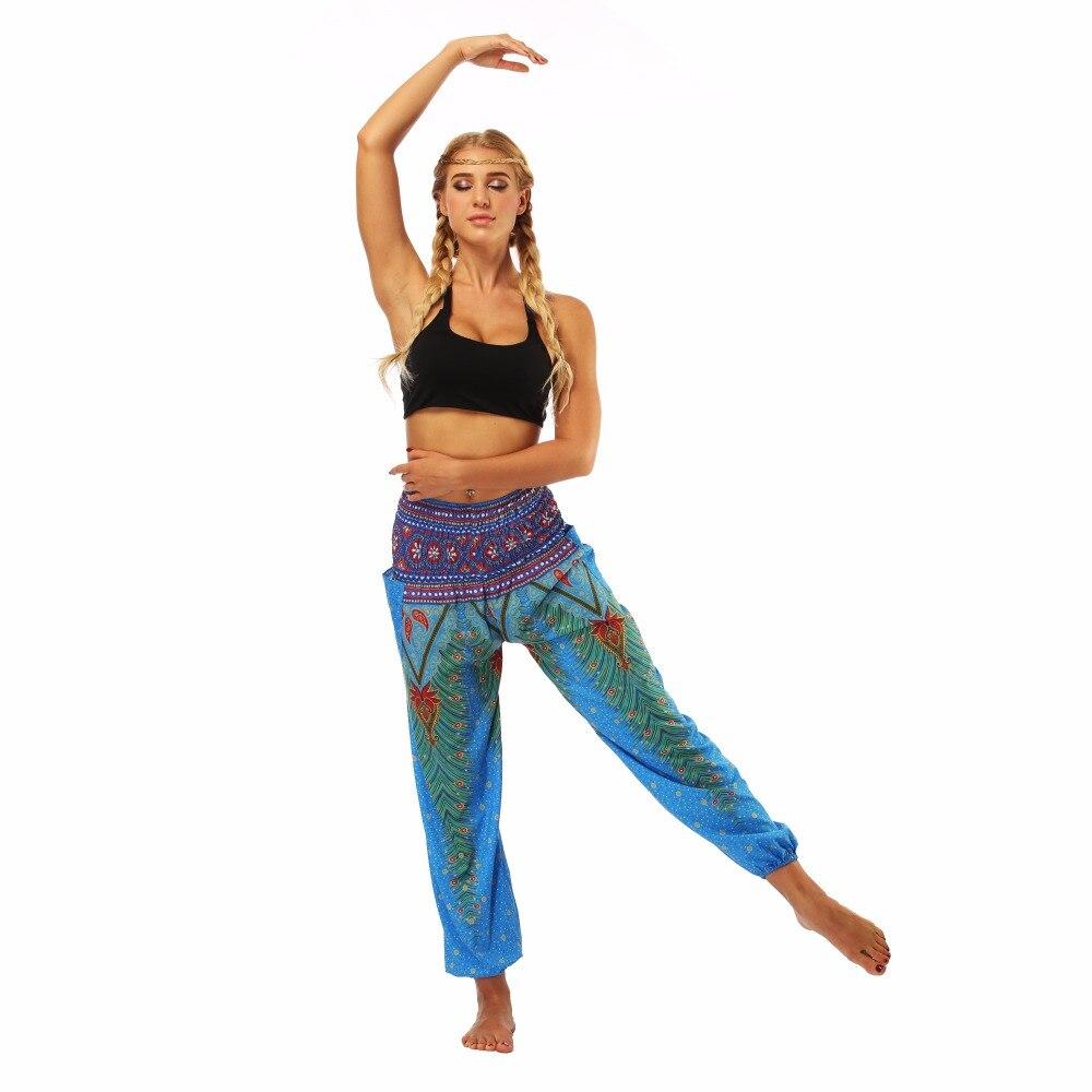TL002- blue loose yoga pant legging (4)