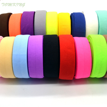 New band 10yd 3/4''(20mm) matt color Velcro tape elastic ribbon webbing trim lace solid headwear handmade DIY decoration crafts(China)