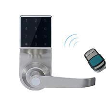 Hide Key Digital Keypad Door Lock Remote Control+Password+Card+Key Touch Screen Spring Bolt Smart Electronic Lock lk800BSRM(China)