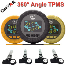 360 Degree Angle Color Screen Display TPMS with Internal Sensor Support High Low Pressure Temperature Fast Leakage Alarm CARBAR(China)