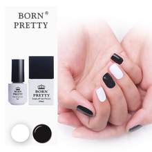 BORN PRETTY 2 Bottles Black White Soak Off Gel 5ml 10ml Optional Nail Gel Polish Set Manicure