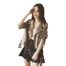 Suede Fringe khaki Jacket Women Jacket new Autumn fashion Short pockets zipper stitching Tassels Biker Jacket T616