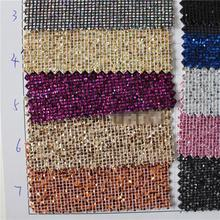 50yards free shipping Best Selling High Quality Sparlky Chunky Glitter Leather Glitter Fabric For Wallpaper Covering(China)
