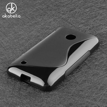 AKABEILA Mobile Phone Cases For Nokia Lumia 530 N530 630 DS Dual SIM RM-978 N630 535 N535 435 N435 550 N550 Cover Silicon Bag(China)