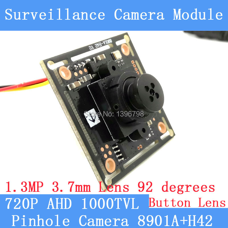 Button 3.7mm Lens Mini Pinhole camera HD 1/4 CMOS image sensor 1000TVL AHD CCTV night vision camera module<br><br>Aliexpress