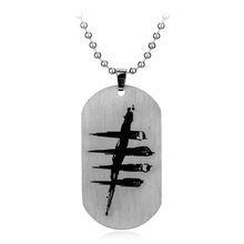 Game Jewelry High Quality Stainless Steel Dog Tag Necklace Pendant Collares Colar