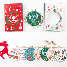 30 pcs/lot Christmas decoration postcard landscape greeting card christmas card birthday message gift cards ornaments