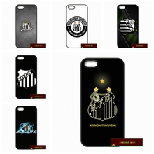 Santos FC Logo Phone Cases Cover For iPhone 4 4S 5 5S 5C SE 6 6S 7 Plus 4.7 5.5 #HE1193(China)