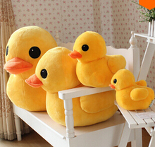 30cm&50cm New Arrival Stuffed Dolls Rubber Duck Hongkong Big Yellow Duck Plush Toys Hot Sale Best Gifts for Children(China)
