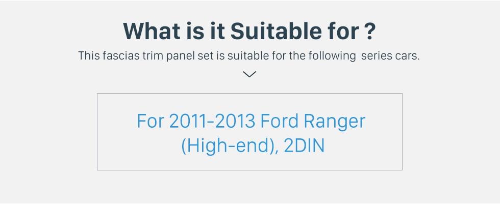 Seicane Black Double Din Car Radio Fascia for 2011 2012 2013 Ford Ranger High-end DVD Frame Refitting Car Kit CD Trim