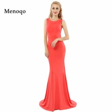 Menoqo robe soiree In Stock Women Evening Dress 2017 New Europe vestido fiesta Formal Long Prom Dresses Sexy Club Party Dress