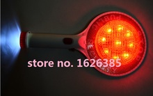 LED rechargeable parking warning signs handheld traffic stop word cards traffic baton indicator light(China)