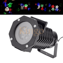 NEW 10 pattern changeable IP65 110V-240V led Outdoor Waterproof Laser Stage Light Xmas light projector Yard Decoration
