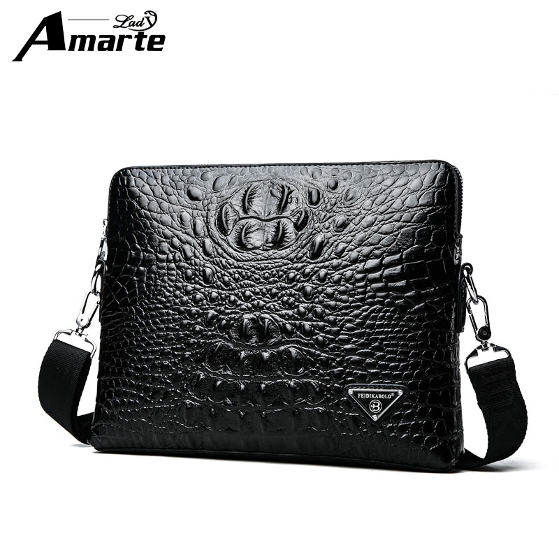 Amarte Fashion New 2018 Mens Bag Shoulder Crossbody Bags For Men Messenger Bag Leather Pu Plaid Small Male Black  Bolso Hombre<br>