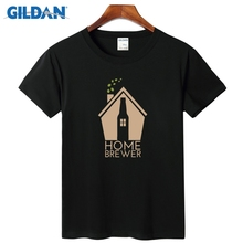 Home Brewer Craft Beer T Shirt Shirt Designs 2017 Tee Tee Comfortable Mens Style T Shirts Cloth(China)