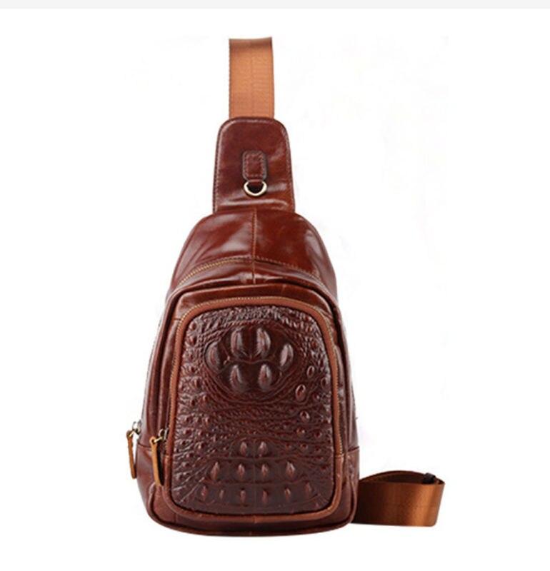 2017 New Top Quality Vintage Genuine Leather Cowhide Men Messenger Shoulder Bag Travel Sling Chest Back Day Pack<br><br>Aliexpress