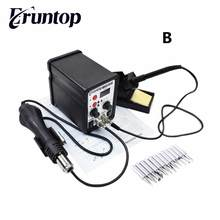 High Quality Eruntop 8586  2 In 1 ESD Hot Air Gun Solder Iron  SMD Desoldering Rework Soldering Station Better than YOUYUE