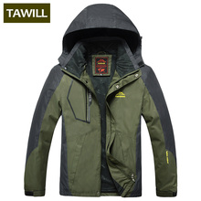 TAWILL 2017 New Men's Waterproof Windpoof Jackets Men Spring Autumn Jacket Coats Male Brand Clothing Plus Size L-8XL Hood 5801(China)