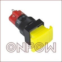 ONPOW Big rectangular illuminated push button switch(LAS1DJ-11ZD/Y/Voltage?) (UL,CE,VDE,ROHS)