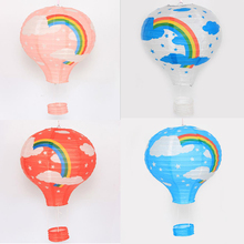 12inch(30cm) Rainbow Hot Air Balloon Paper Lantern Fire Sky Lantern for Party Decoration(China)