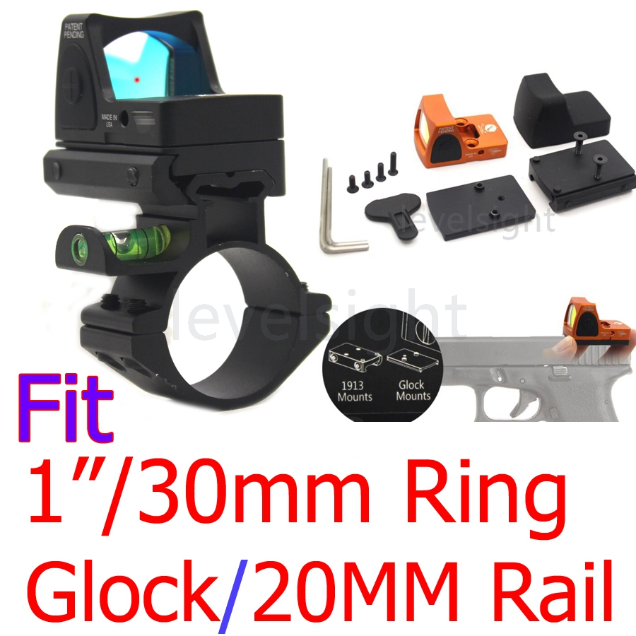 Rifle Adjustable Reflex Red Dot Sight &amp; scope Bubble Level Scope for Hunting Fit 20mm Pictinny Rail Airsoft Pistol Rifle hunting<br>