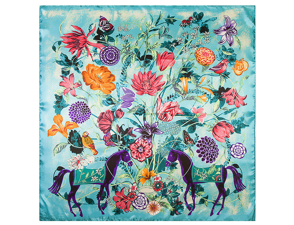 print Silk Scarf  (11)