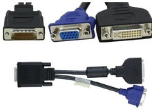 High Quality Computer Cable DMS-59 pin to one DVI(Female)+one VGA (Female) Y-Splitter Cable Video adapter