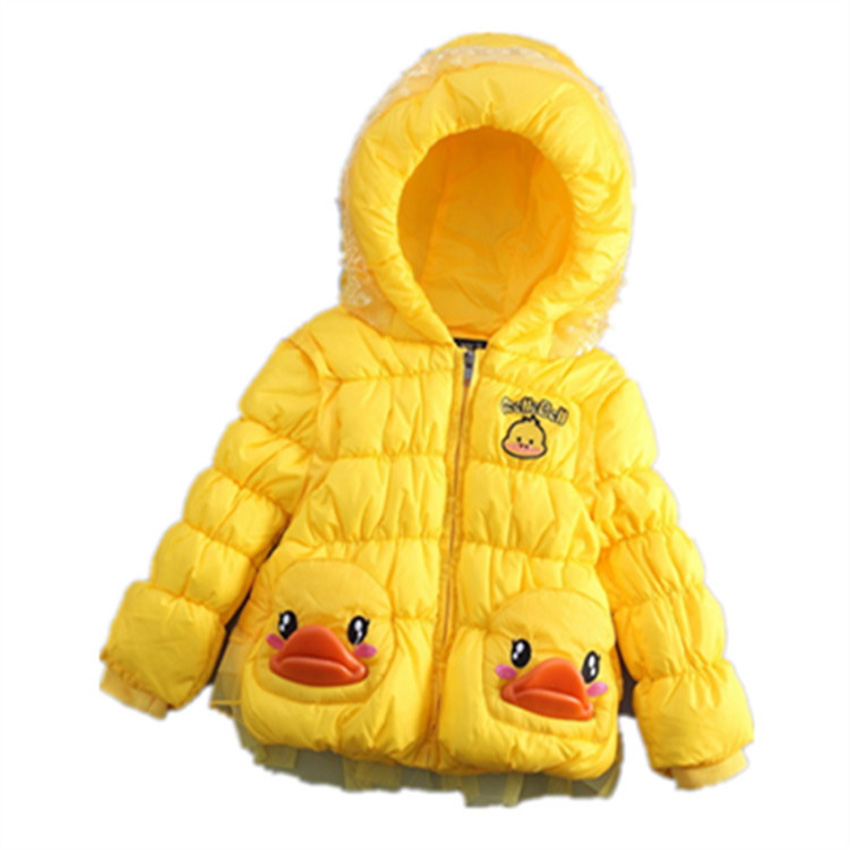 Duck Print Baby Girls Down Coats Winter Thick Warm Kids Jackets Toddler Hooded Outwear Clothes Parkas for Girls YB235Одежда и ак�е��уары<br><br><br>Aliexpress