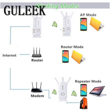 GULEEK WiFi Router/Extender,AMAKE 750Mbps Wireless Repeater Booster Range Extender Mini AP Hotspot Access Point 5.0GHz/2.4GHz(China)